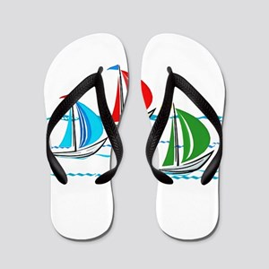 Three Yachts Racing Flip Flops