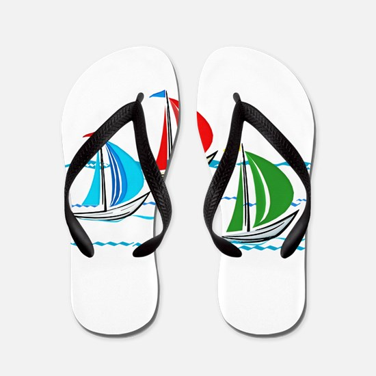 Three Yachts Racing Flip Flops