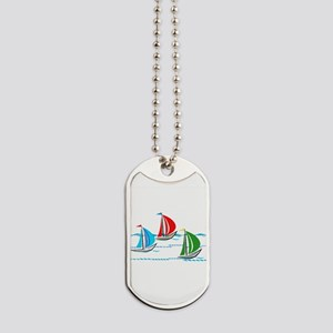 Three Yachts Racing Dog Tags