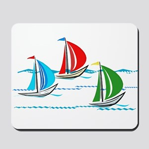 Three Yachts Racing Mousepad