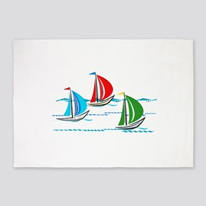 Three Yachts Racing 5'x7'Area Rug