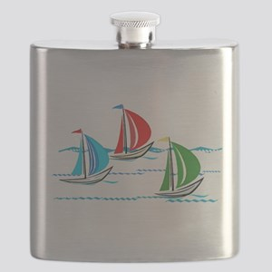 Three Yachts Racing Flask