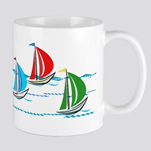 Three Yachts Racing Mugs