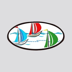 Three Yachts Racing Patches