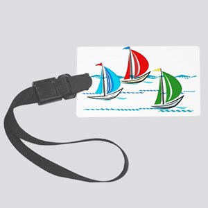 Three Yachts Racing Large Luggage Tag