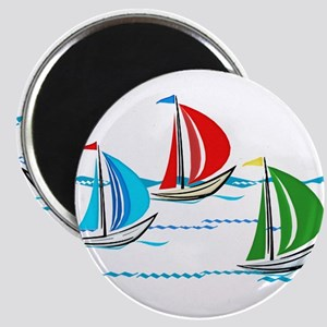 Three Yachts Racing Magnets