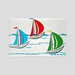 Three Yachts Racing Magnets