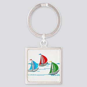 Three Yachts Racing Keychains