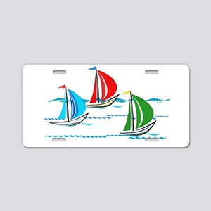 Three Yachts Racing Aluminum License Plate