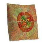 Celtic Autumn Leaves Burlap Throw Pillow