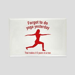 Forgot To Do Yoga Yesterday Rectangle Magnet