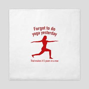 Forgot To Do Yoga Yesterday Queen Duvet