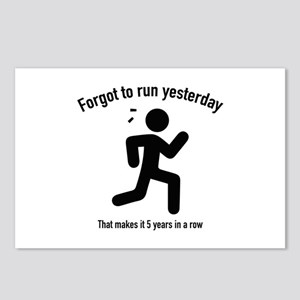 Forgot To Run Yesterday Postcards (Package of 8)