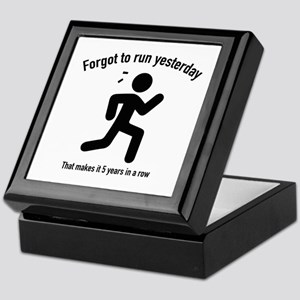 Forgot To Run Yesterday Keepsake Box