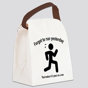Forgot To Run Yesterday Canvas Lunch Bag
