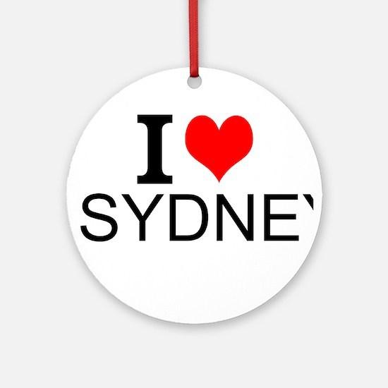 I Love Sydney Ornament (Round)