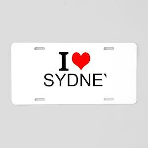 I Love Sydney Aluminum License Plate