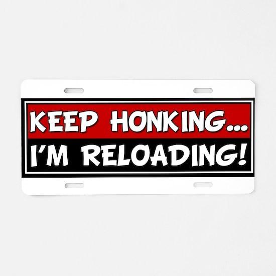 Cute Honk Aluminum License Plate