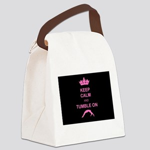 Keep Calm and Tumble on Canvas Lunch Bag