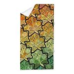Celtic Leaf Tesselation Beach Towel