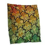 Celtic Leaf Tesselation Burlap Throw Pillow