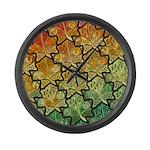 Celtic Leaf Tesselation Large Wall Clock
