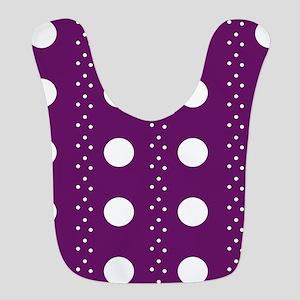 Grape Polkadot Stripes Bib