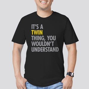 Its A Twin Thing Men's Fitted T-Shirt (dark)