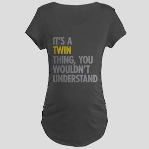 Its A Twin Thing Maternity Dark T-Shirt