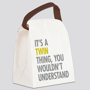 Its A Twin Thing Canvas Lunch Bag