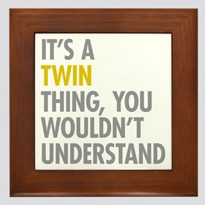 Its A Twin Thing Framed Tile