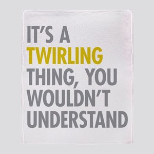 Its A Twirling Thing Throw Blanket