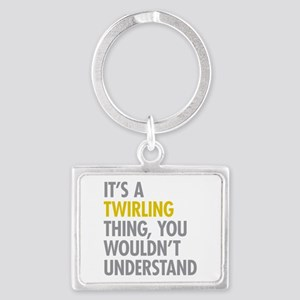 Its A Twirling Thing Landscape Keychain