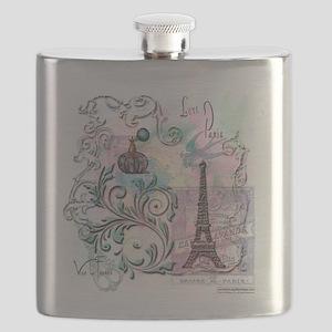 Love Paris Flask