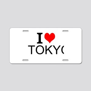I Love Tokyo Aluminum License Plate