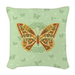 Celtic Butterfly Woven Throw Pillow