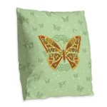 Celtic Butterfly Burlap Throw Pillow