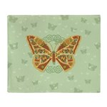 Celtic Butterfly Throw Blanket