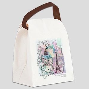 Love Paris Canvas Lunch Bag