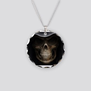 grimreaper Necklace Circle Charm