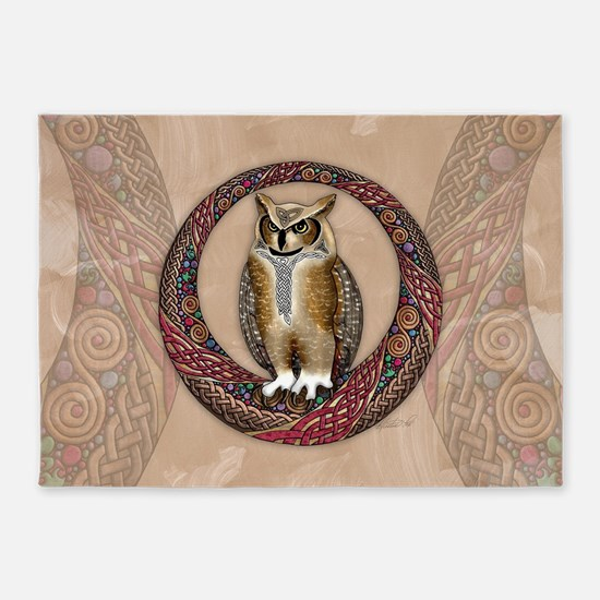 Celtic Owl 5'x7'Area Rug