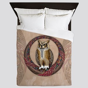 Celtic Owl Queen Duvet