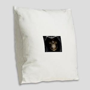 grimreaper Burlap Throw Pillow