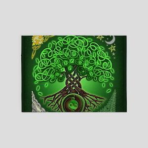 Circle Celtic Tree of Life 5'x7'Area Rug