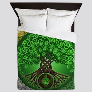 Circle Celtic Tree of Life Queen Duvet