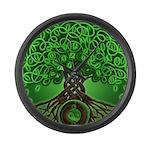 Circle Celtic Tree of Life Large Wall Clock