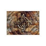 Celtic rock Area Rugs