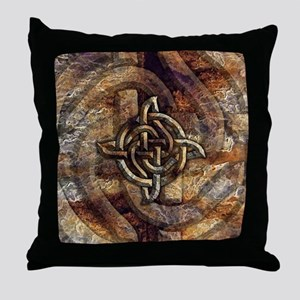 Celtic Rock Knot Throw Pillow