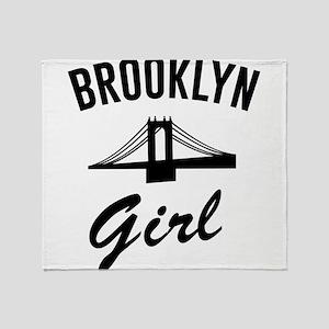 Brooklyn girl Throw Blanket