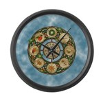 Celtic Wheel of the Year Large Wall Clock